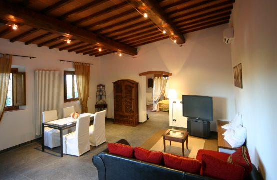 Typical country Tuscan Villa with frescoes near Florence